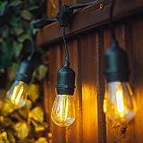 Außen LED Lichterkette - XMCOSY+ IP65 Wasserdicht LED Lichterkette 10M, mit 10 Led Bulbs, Outdoor Lichterkette Außen Lichterkette für Garten, Party, Wehinachten, Warmweiß, für Innen und Außen