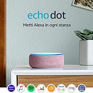 Echo Dot (3ª generazione), Ricondizionato Certificato, Tessuto malva – Altoparlante intelligente con integrazione Alexa