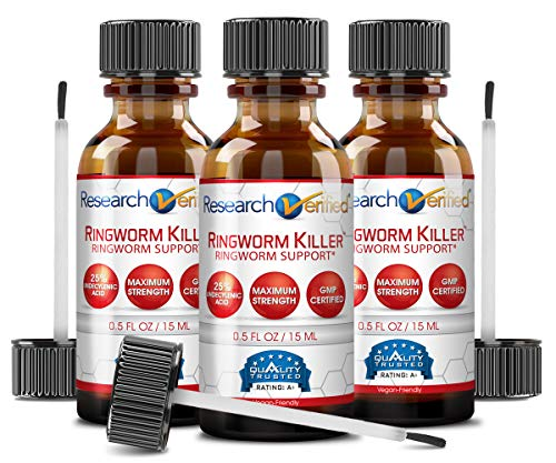 Research Verified Ringworm Killer - 1 Bottle - Boost Relief for Ringworm - 25% Undecylenic Acid and Tea Tree...