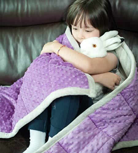 Daverose Weighted Blanket 8kg 135 * 200cm Schwere Decke Violett&Hellgrau ZLT-LG135-8