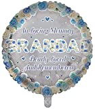 Globos de papel de aluminio de lujo para abuelo, forma redonda, recuerdo funerario, globos de aluminio para mesa de memoria, conmemoración, condolencia, aniversario