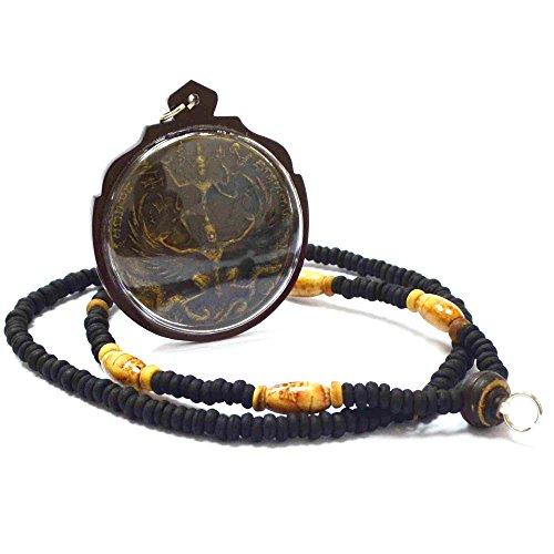Dharma Jewelry Pendant Phra Vishnu Ride Garuda Back Hanuman LP Kalong Wat Khaolaem Thai Buddha Amulet