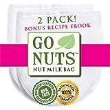 2-PACK Best Nut Milk Bag - Restaurant Commercial Grade by GoNuts -...