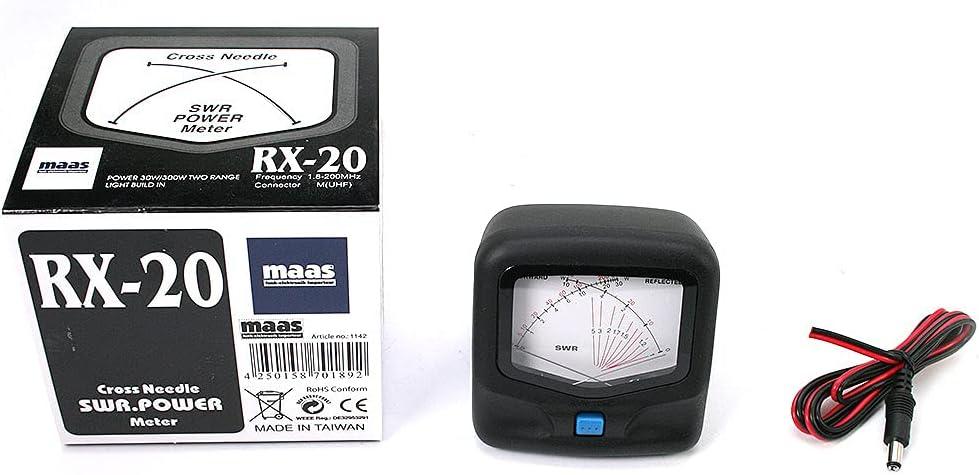 Maas RX-20 Medidor SWR de ondas estacionarias.