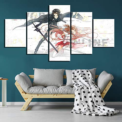 Home Decor HD Print Afbeelding Sword Art Online Poster Anime Wall Art schilderijen Canvas Living Room Frameless 40 x 60 40 x 80 40 x 100