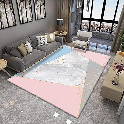 Jiaosa Ultra Soft Rug Pink Carpet salon pink big triangle pattern anti-slip carpet soft Pastel Rug 80X120CM Rugs For Boys Bedroom 2ft 7.5''X3ft 11.2''
