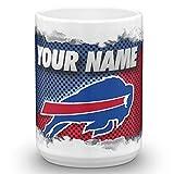 Buffalo Bills Color Blast Custom Personalized Name Football Coffee Mug Gift (15oz)