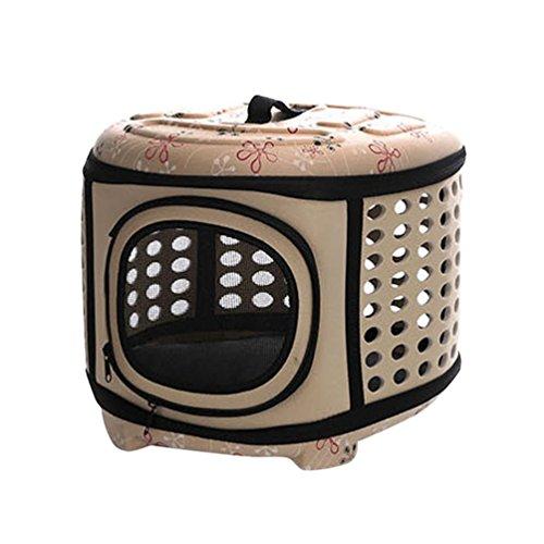 JEELINBORE Transporttasche Tragbar Faltbar Tragetasche für Tiere Hunde Katze Hundetasche (Aprikose, L)