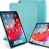 KHOMO iPad Pro 11 Funda Origami Semi Transparente con Smart Cover Protección Delantera y Trasera para Nuevo Apple iPad Pro 11-2018 - Verde Menta