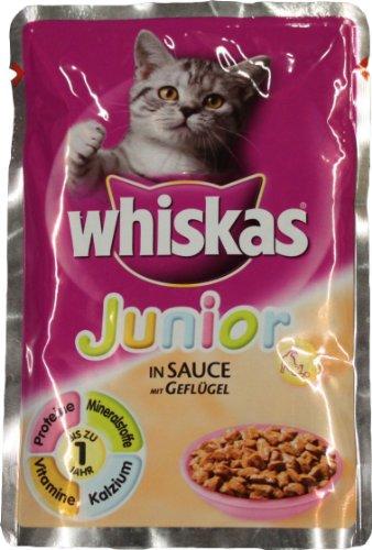 Whiskas Junior Katzennassfutter, mit Geflügel in Sauce 100 g