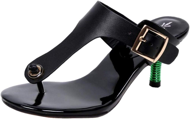 FANIMILA Women Fashion Kitten Heel Party Sandals