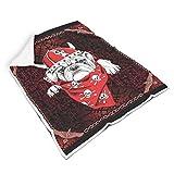 Mentmate Store Manta Viking Red Dog Universal, muy cómoda, retro, estilo retro, apta para oficina, regalo para estudiantes, color blanco, 130 x 150 cm