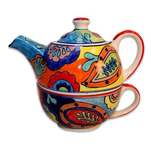 Teiera in Ceramica con tazza bunt–Tea For One