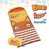 Skandika Sorgenfresser Schlafsack für Kinder mit großer Tasche (bis -12°C) (Enno)