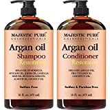 Argan Oil Shampoo and Conditioner, from Majestic Pure, Sulfate Free, Vitamin Enriched, Volumizing & Gentle Hair Restoration Formula for Daily Use, for Men and Women, 16 fl oz Each