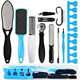 Professional Pedicure Kit SOFYE Foot Files Set Tools Double Sided Files Exfoliating Prevent Dead Skin Foot Skin Care Tool Set Salon Pedicure Kit Washable Effectively 13 in 1…