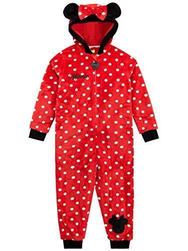 Disney Pijama Entera para niñas Minnie Mouse Rojo 3-4 Años