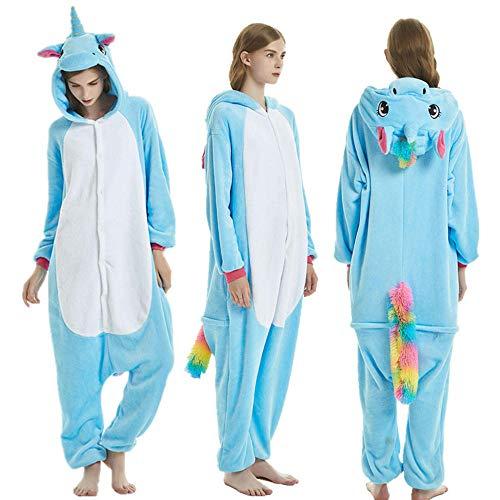 Xinxin24 jumpsuit dier karton carnaval Halloween kostm lounge sleepsuit overall pyjama pyjama volwassenen unisex voor dames heren