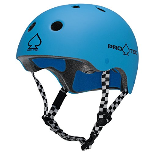 Pro tec Helm Classic Zertifiziert–Gummi Gumball blau, Rubber Gumball Blue