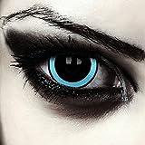 "Designlenses, mini sclera lentillas de colores negro y azul para Halloween costume 17mm lentes de tres meses sin dioprtías/corregir + gratis caso de lente ""Galactic'"