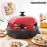 InnovaGoods IG811501 Four pour mini pizzas avec réception, rouge/noir