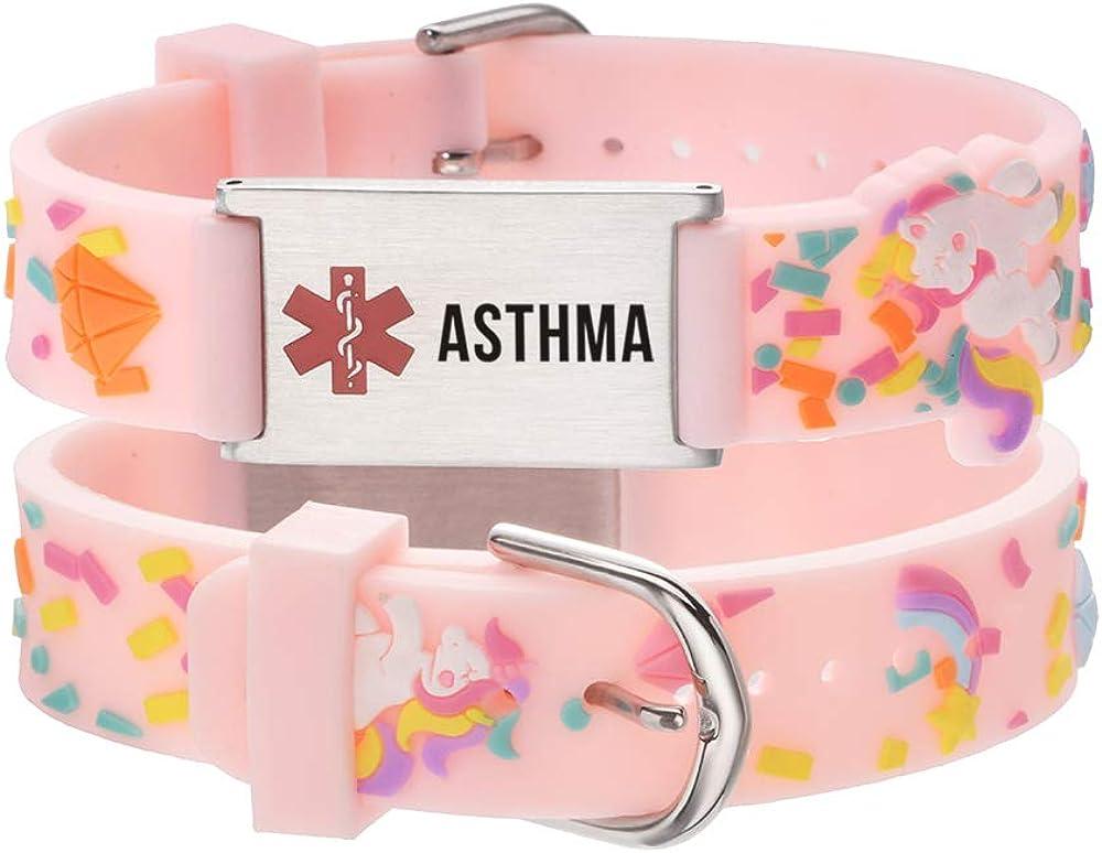 LinnaLove Cartoon Medical Alert id Bracelets Parents Gift to Son, Daughter, Brother, Sister