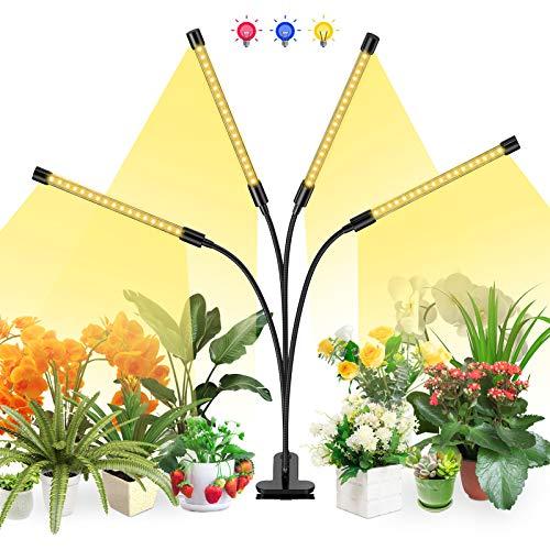 Lovebay Pflanzenlampe LED, 40W Pflanzenlicht Pflanzenleuchte Wachstumslampe Wachsen licht Grow Lampe Vollspektrum für Zimmerpflanzen mit Zeitschaltuhr, 3 Arten von Modus, 5 Arten von Helligkeit
