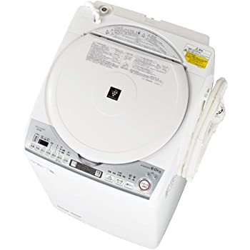 シャープ 洗濯機 洗濯乾燥機 穴なし槽 インバーター プラズマクラスター 搭載 ホワイト系 ESTX8D-W