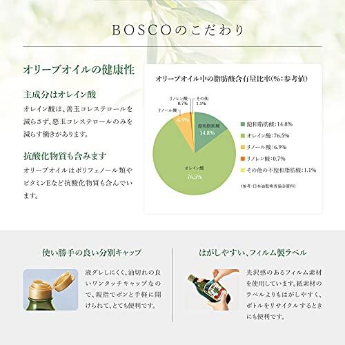 日清オイリオグループBOSCOエキストラバージンオリーブオイル684g