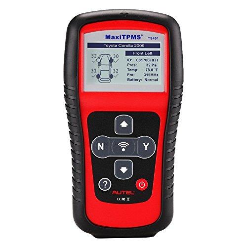Autel MaxiTPMS TS401 Herramienta Específica para Sistema de Presión de Neumáticos y Sensores TPMS Compatible con sensores 315mHz y 433mHz