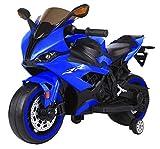 Tecnobike Shop Moto Elettrica per Bambini Moto Runner 12V S1000 RR Luci LED Suoni Illuminata Ingr. Mp3 (Blu)