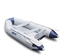 UBOWAY 2 or 4 Person Inflatable Dinghy/Boat/Raft Fishing Raft Set with Inflatable Bottom Floor and Alumium Oars,Support Install Engine