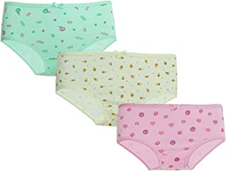 Mariposa Girl's Cotton Outer Elastic Printed Panty - Pack Of 3