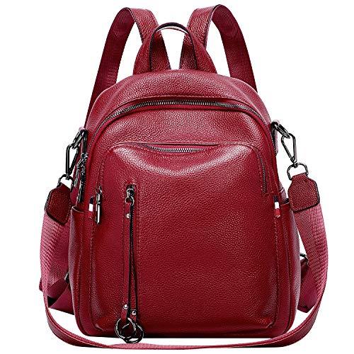 ALTOSY Echtes Leder Rucksack Damen Elegant Schultertasche Frauen Mode Casual Daypack (S9,...