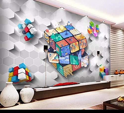 Fondo de pantalla Original 3D Cubos de Rubik Cubos Papel de pared Papel de parede mural Sala de estar dormitorio wallpape-300 * 210CM