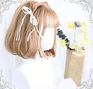 耐熱コスプレウイッグ かつら40cmショートヘア ロリータ風日常原宿風GAL系小顔効果wig cosplay