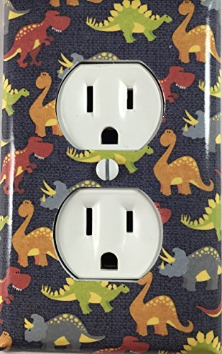 Kids Dinosaur Decorative Outlet Cover Wall Plate