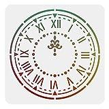 FINGERINSPIRE Plantilla de reloj de 30 x 30 cm cuadrado adornado reloj pintura plantilla plantilla reutilizable DIY plantilla para decoración del hogar (blanco)
