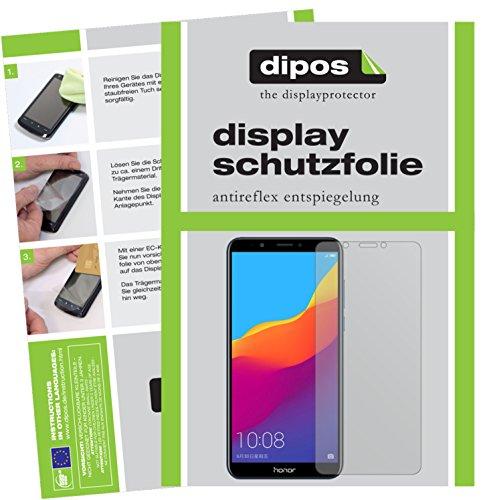 dipos I 2X Schutzfolie matt kompatibel mit Huawei Honor 7C Folie Bildschirmschutzfolie