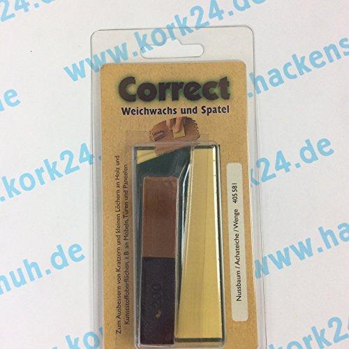 CleHo Weichwachs C12 mit Spatel Nussbaum/Achateiche/Wenge/Eiche geräuchert