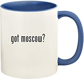 got moscow? - 11oz Ceramic Colored Handle and Inside Coffee Mug Cup, Cambridge Blue