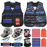 Joyhoop 2 Kit Chaqueta de Chaleco Táctico para Niños, Adecuado para Chalecos tácticos Nerf N-Strike Elite Series, Adicional con Gorra de Camuflaje táctico y Gafas Transparentes.