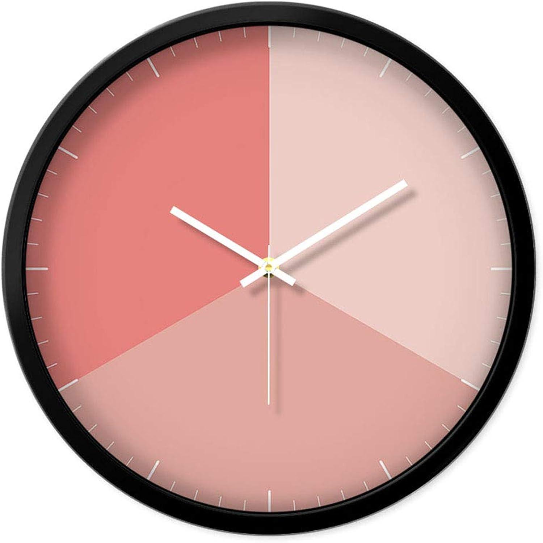 Precio al por mayor y calidad confiable. ZHUZHU Gradiente Moderno Moderno Moderno Minimalista Personalidad Moda Arte Creativo Reloj Silencioso Dormitorio Oficina Escuela Salón Decoración Reloj de Parojo (Color   negro, tamao   35X35cm)  descuentos y mas