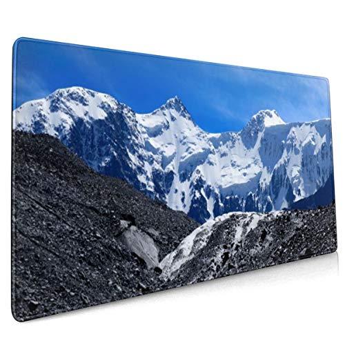 Panorama Dual Monitor Mountain Sneeuw Muis Pad Niet Slip Rubber Groot Gaming Keyboard Mat 15.8x35.5 In