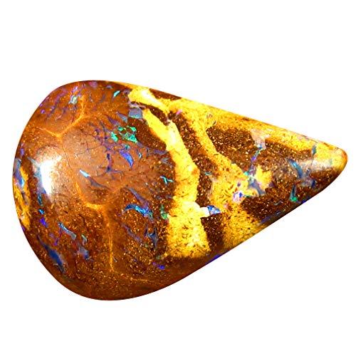 Pietra preziosa da 5,39 ct a forma di fantasia australiana di WINTON Queensland e rari fantastici motivi colorati BOULDER OPAL