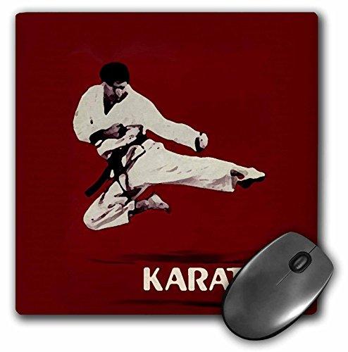 3drose LLC 20,3x 20,3x 0,6cm Maus Pad, Karate (MP 3149_ 1)