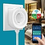 MoKo Smart WLAN Steckdose, Intelligente Smart Stecker mit 2 USB-Anschlüssen und Timerfunktion, WiFi Plug Kompatibel mit Alexa Echo Google Home IFTTT Smart Life, APP Fernsteurung Sprachsteuerung