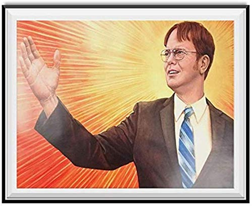 Dwight Schrute Supreme Leader Wall Art Painting Home Decor Gifts for Lovers Poster