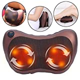 Jukkre Shiatsu Massage Pillow Back Neck Massager with Heat Kneading for Shoulders, Lower