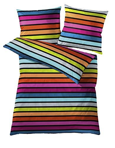 Kleine Wolke 6109148952 Bettwäsche Rimini, 135 x 200 cm, Farbe Multicolor
